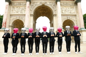 Karl Lagerfeld + ModelCo Beauty Butlers Bring Paris To A Stand Still