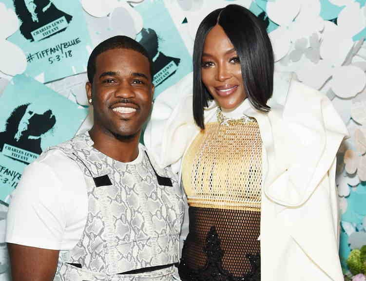 A$AP Ferg (L) and Naomi Campbell