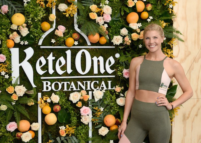 Bandier Fitness Instructor Amanda Kloots teaches The Body at the Launch of Ketel One Botanical