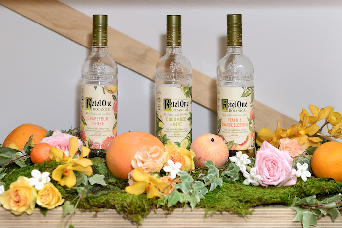 The new Ketel One Botanical Graprefruit and Rose, Cucumber and Mint, and Peach and Orange Blossom