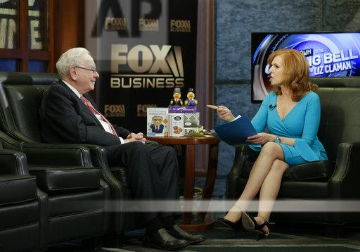 Berkshire Hathaway Chairman and CEO Warren Buffett listens to a question during an interview with Liz Claman of the Fox Business Network in Omaha, Neb., Monday, May 8, 2017. (AP Photo/Nati Harnik)