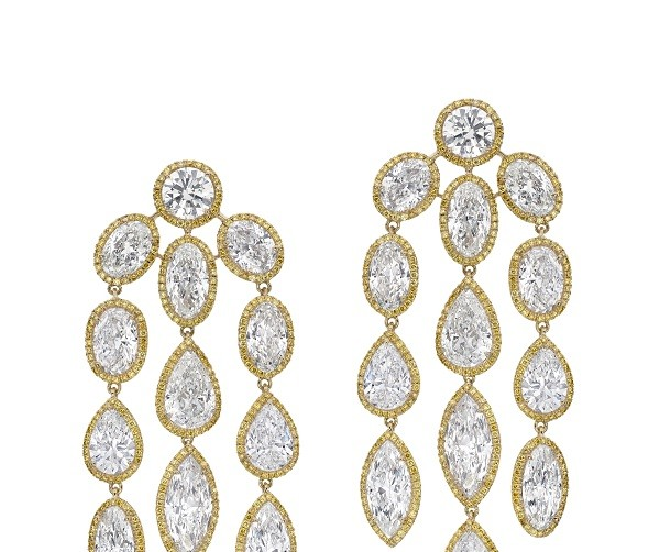 Chandelier Avakian earrings from the High Jewelry Collection