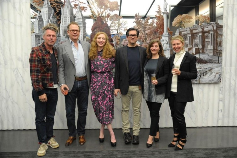 Bill Powers, John Currin, Rachel Feinstein, Sean Landers, Michelle Landers, Rebecca Sternthal / Photo Credit: Patrick McMullan