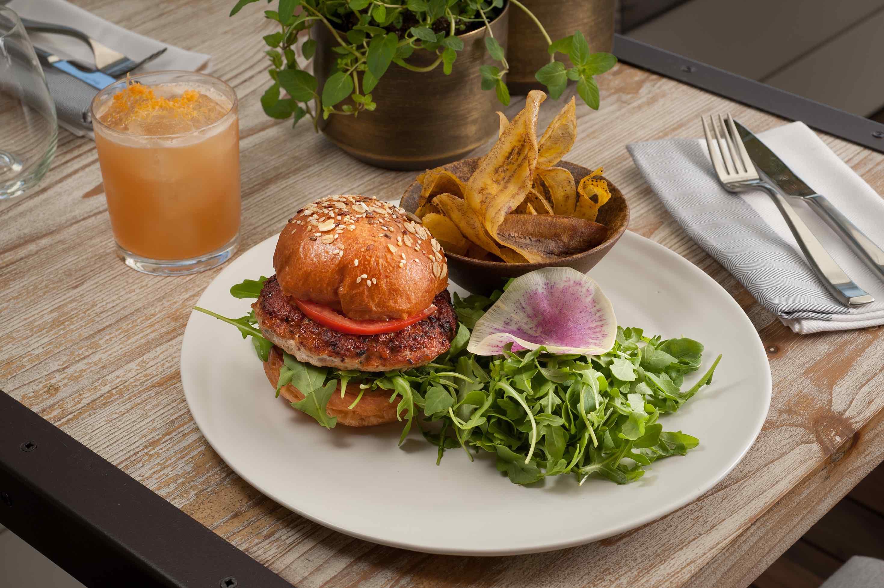 Chicken Ricotta Burger 3 Malibu Farm