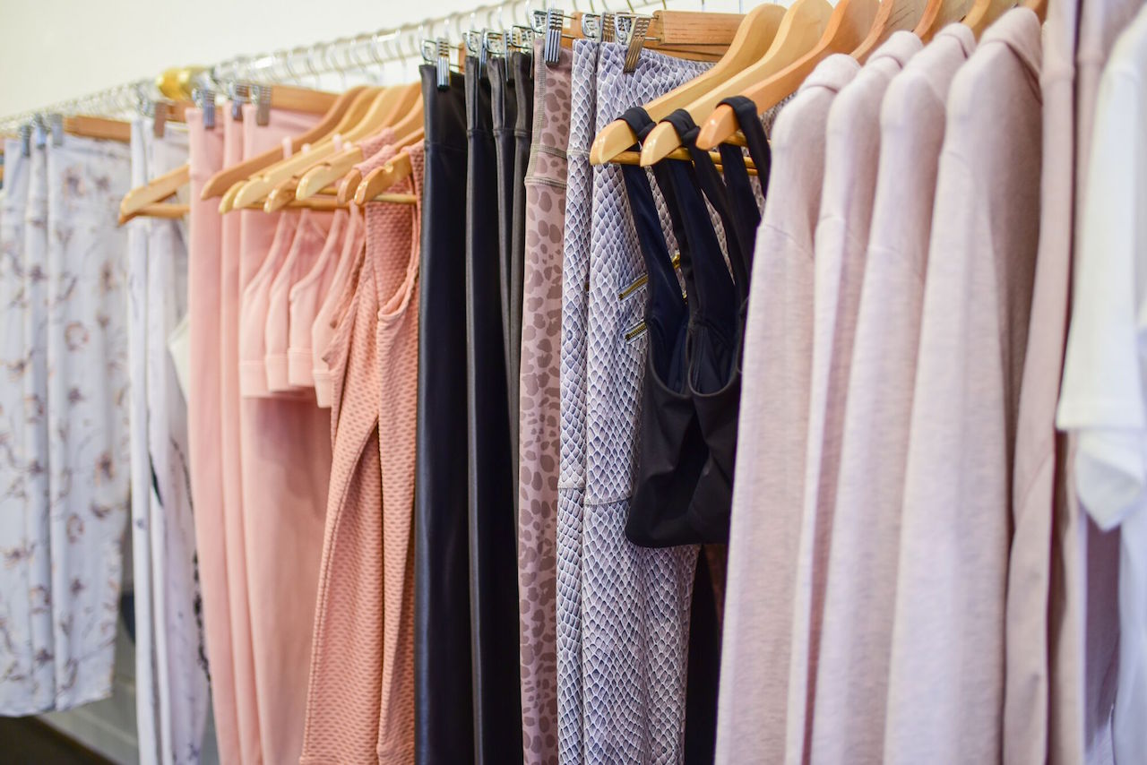 Clothing on display at Kore Collective