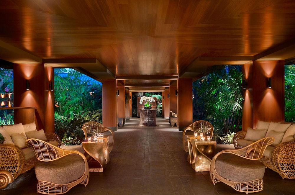 An inviting walkway at the resort