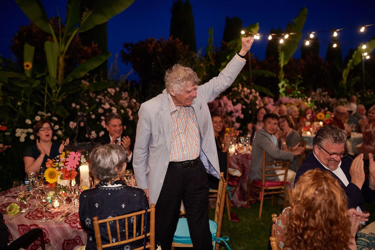 Gordon Getty at Festival Napa Valley 2017 patron dinner hosted by Elizabeth and Clarke Swanson