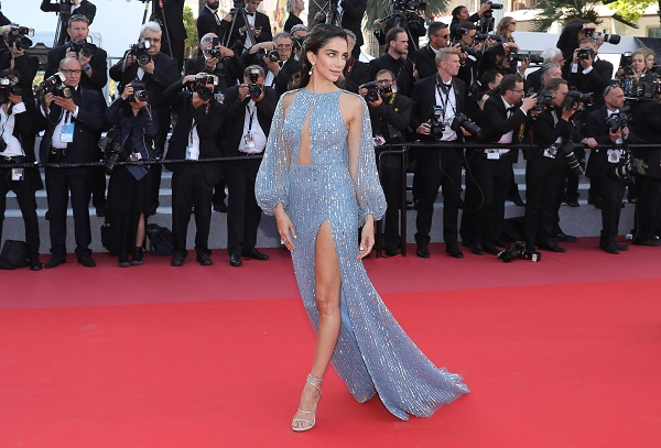 """CANNES, FRANCE: Jessica Kahawaty attends the screening of """"Capharnaum"""" during the 71st annual Cannes Film Festival at Palais des Festivals on May 17, 2018 in Cannes, France."""
