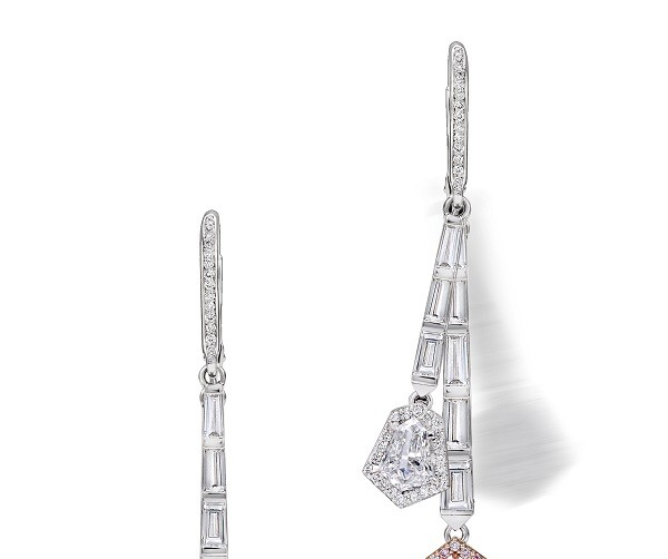 Kite diamond Avankian Earrings from the High Jewelry Collection