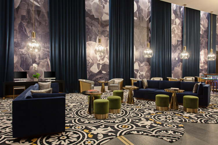The lobby at Hotel Indigo