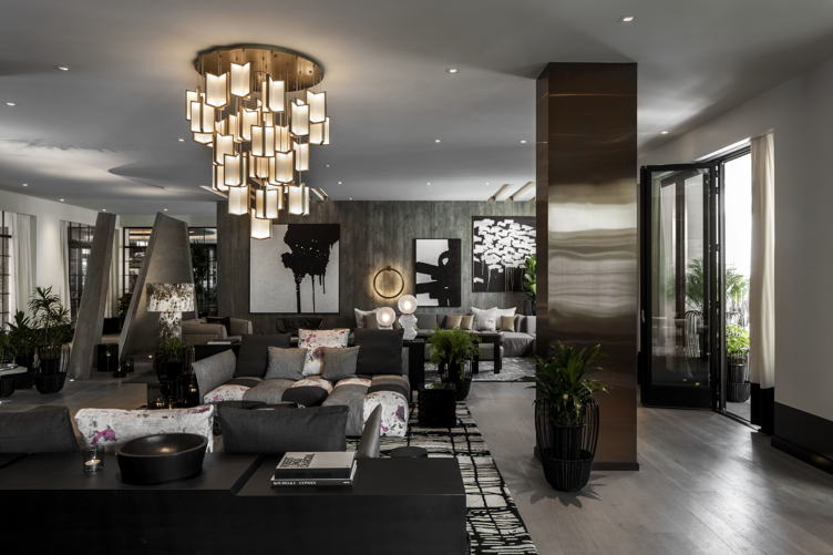 The lounge at Kimpton La Peer