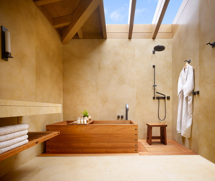 The Japanese-style bathroom at Nobu Ryokan
