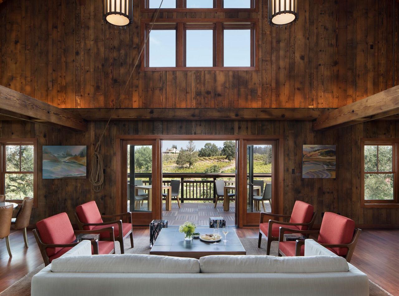The great room at the La Crema Estate