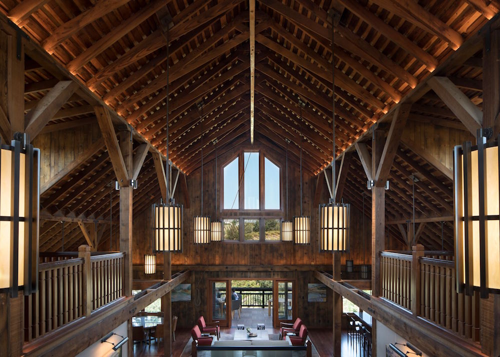 The architecture of the old barn is breathtaking