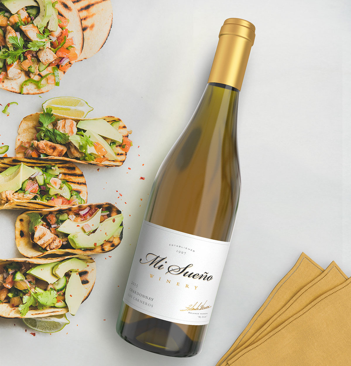 Tacos and Chardonnay are a match made in heaven!