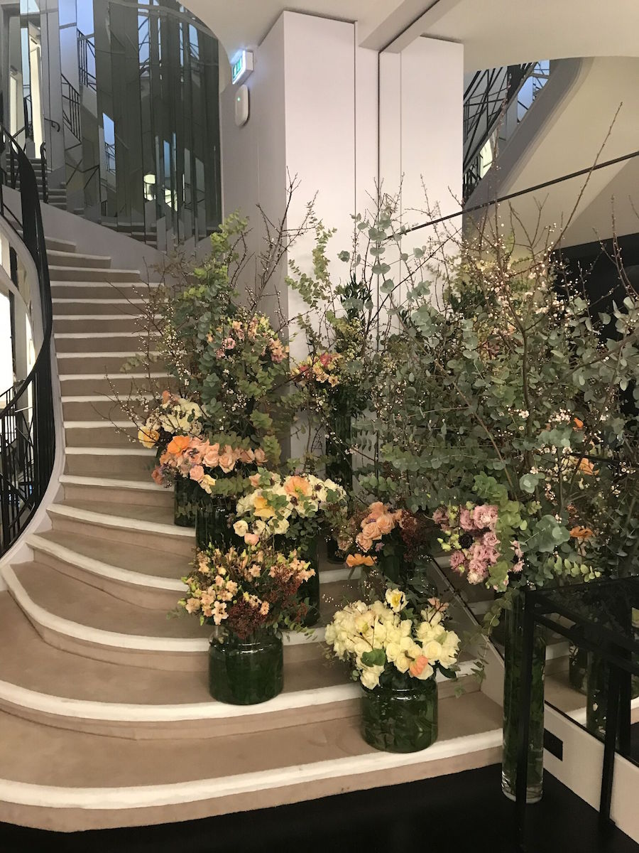 Coco Chanel's luxe staircase