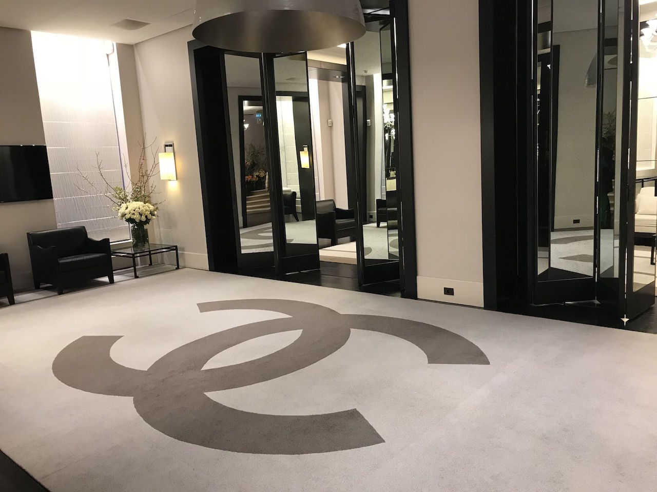 The entryway to Chanel's apartment