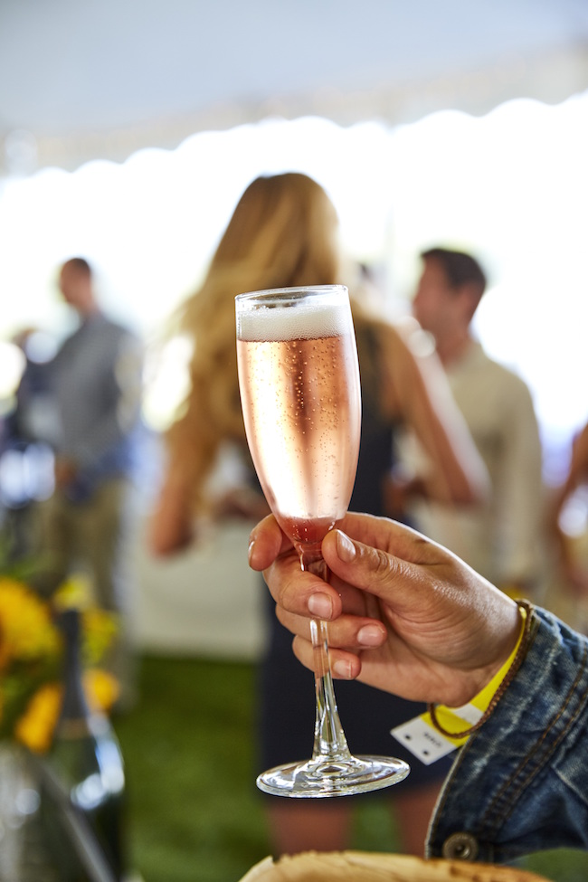 Wolffer Estate Sparkling Rose at the James Beard Foundation's Chefs & Champagne® annual summer fundraiser at Wölffer Estate Vineyard in the Hamptons on July 29, 2017.