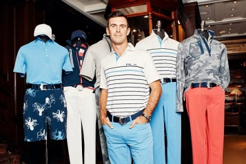 Billy Horschel makes appearance at launch of his collaboration with RLX Ralph Lauren for Golf Collection