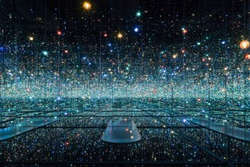 Must-see art exhibits around the world. Yayoi Kusama (Japanese, born 1929). Infinity Mirrored Room, The Souls of Millions of Light Years Away, 2013, wood, metal, mirrors, plastic acrylic, rubber, LEDs, and water. Courtesy of David Zwirner New York. Copyright Yayoi Kusama.
