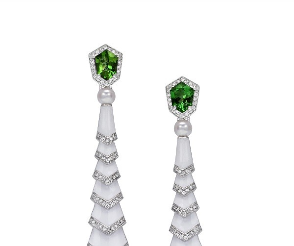 Tourmaline Avakian earrings from the Gatsby Inspired Jewelry Collection