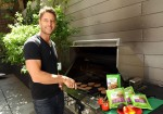 Justin Hartley grills in New York City.