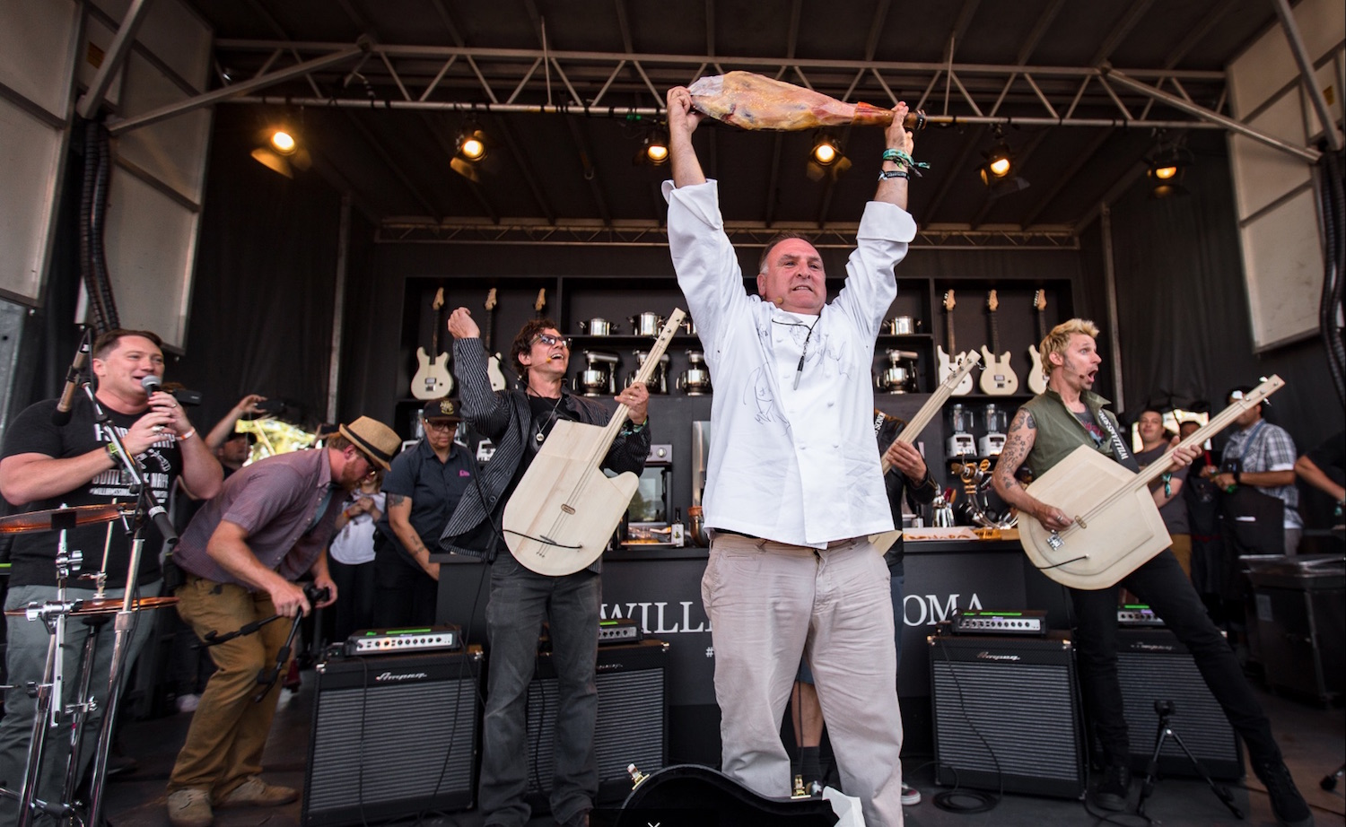 Chef Jose Andres at the 2017 Williams Sonoma Culinary Stage