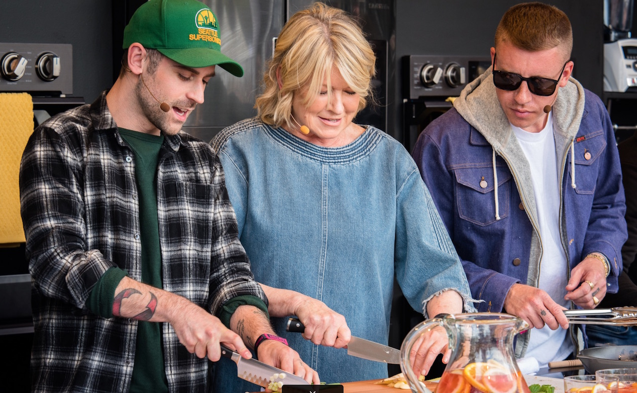 Martha Stewart with Macklemore and Ryan Lewis at last year's BottleRock Napa Valley