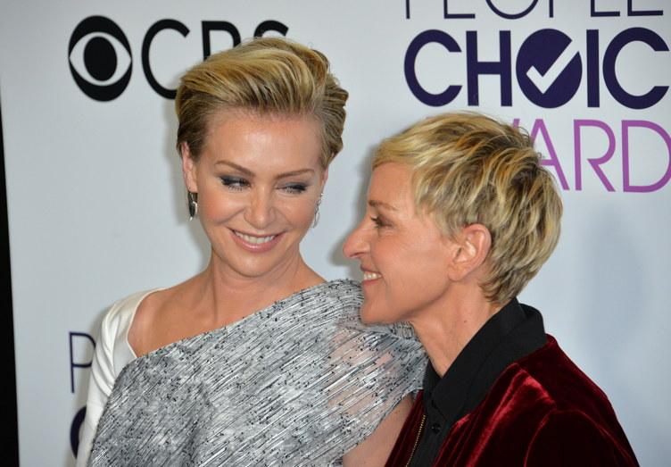 De Rossi with partner Ellen DeGeneres