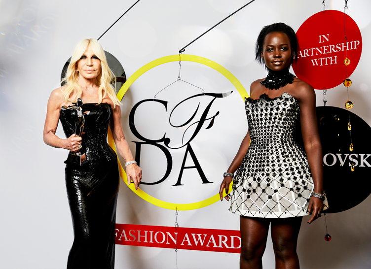 Donatella Versace and Lupita Nyongo