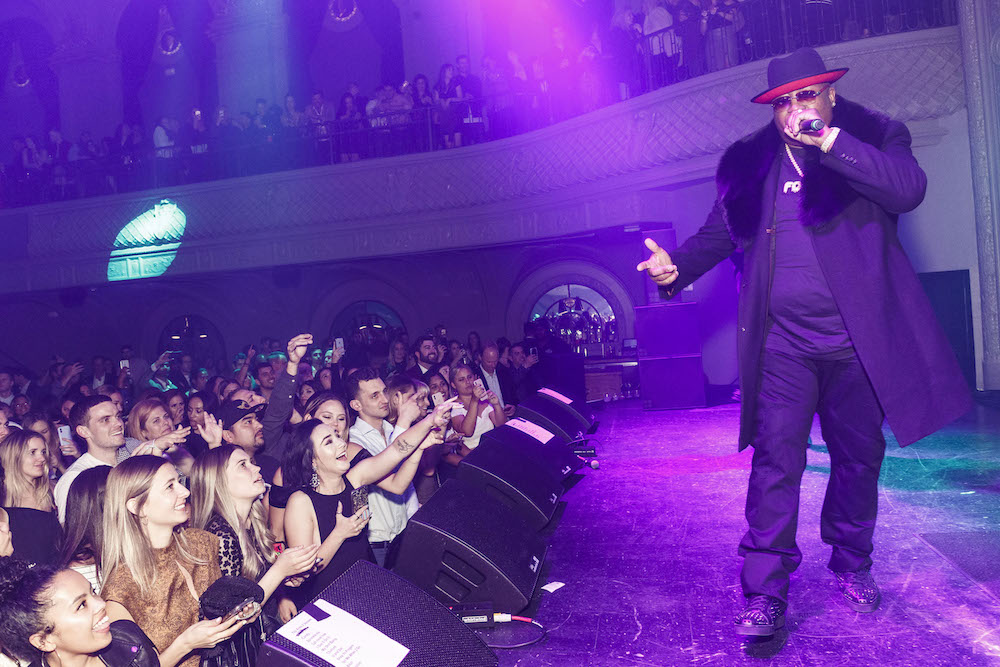 E-40 performs at a recent party at August Hall