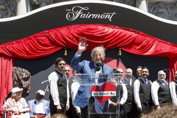"""Tony Bennett Way"" Block Party and Street Sign Unveiling"