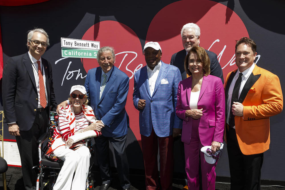 Lorenzo Ortona, Charlotte Shultz, Tony Bennett, Willie Brown, Paul Tormey, Nancy Pelosi and Liam Mayclem