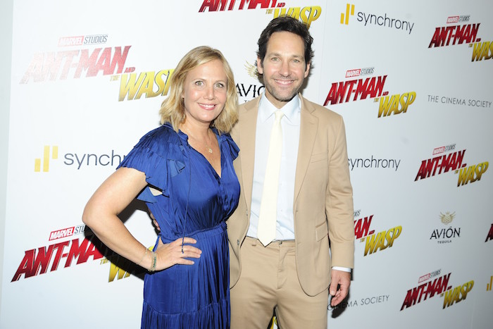 "Julie Yaeger & Paul Rudd at The Cinema Society With Synchrony And Avion's Screening Of Marvel Studios' ""Ant-Man And The Wasp"" at The Museum of Modern Art"