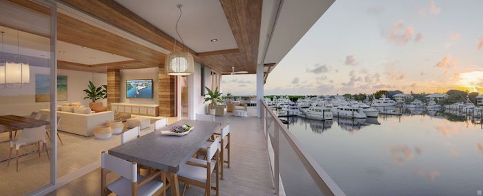 121 Marina - Interior and Terrace View