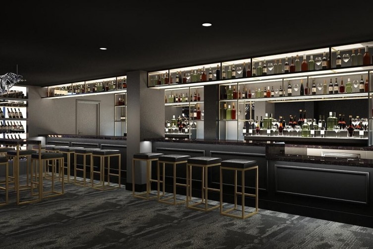 A rendering of One65's bar