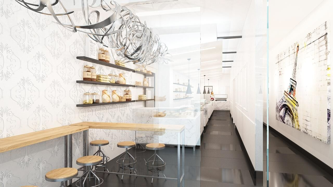 A rendering of the patisserie
