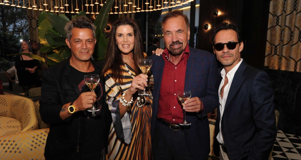 Jorge Pérez Celebrates Opening Of SLS LUX With Marc Anthony And Alejandro Sanz