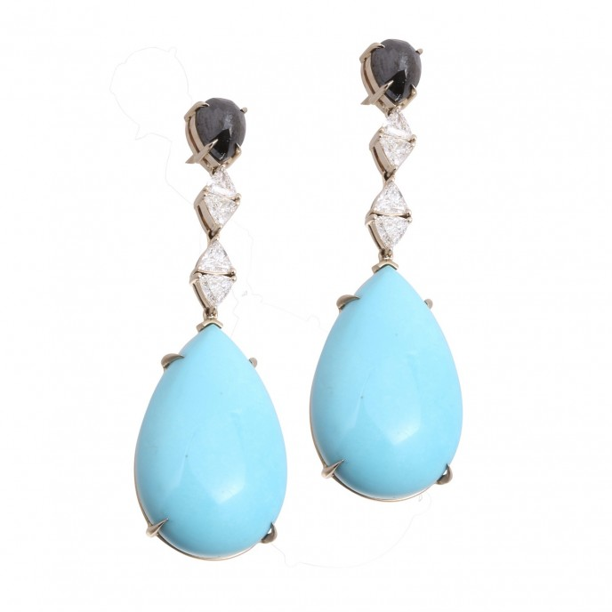 Ara Vartanian_Turquoise Earrings