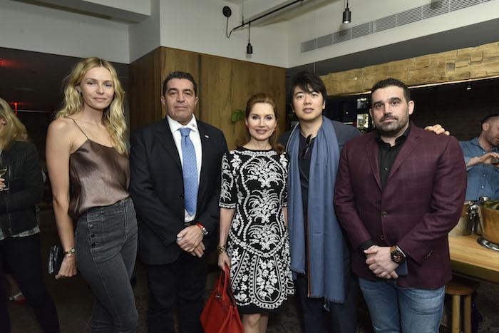 Valentina Zelyaeva, Paolo Zampolli, Jean Shafiroff, Lang Lang, and Seth Semilof