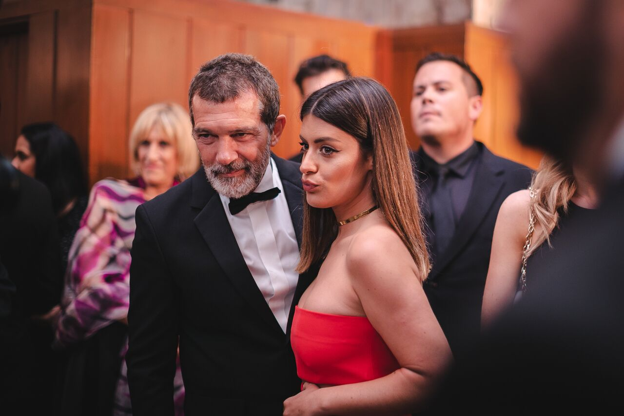 Antonio Banderas and Aida Domenech at the Antonio Banderas Benefit Gala