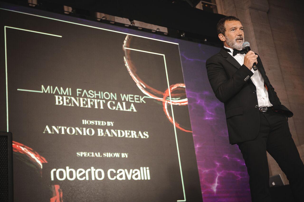 Antonio Banderas at this year's Antonio Bandera's Benefit Gala at the 2018 Miami Fashion Week