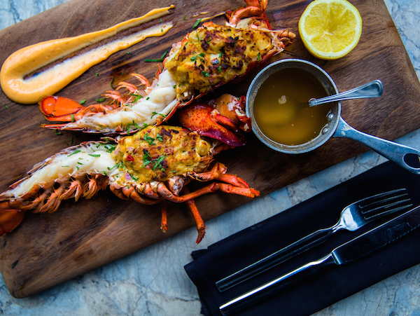 Grilled Stuffed Two Pound Lobster