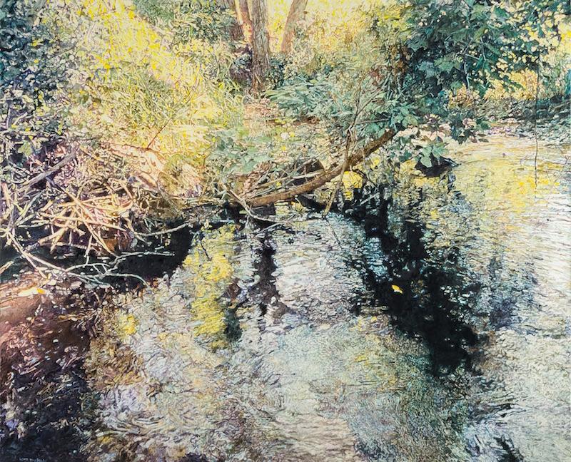 William Nichols' Moment at Cedarburg Creek, oil on linen, 54 x 66 in.