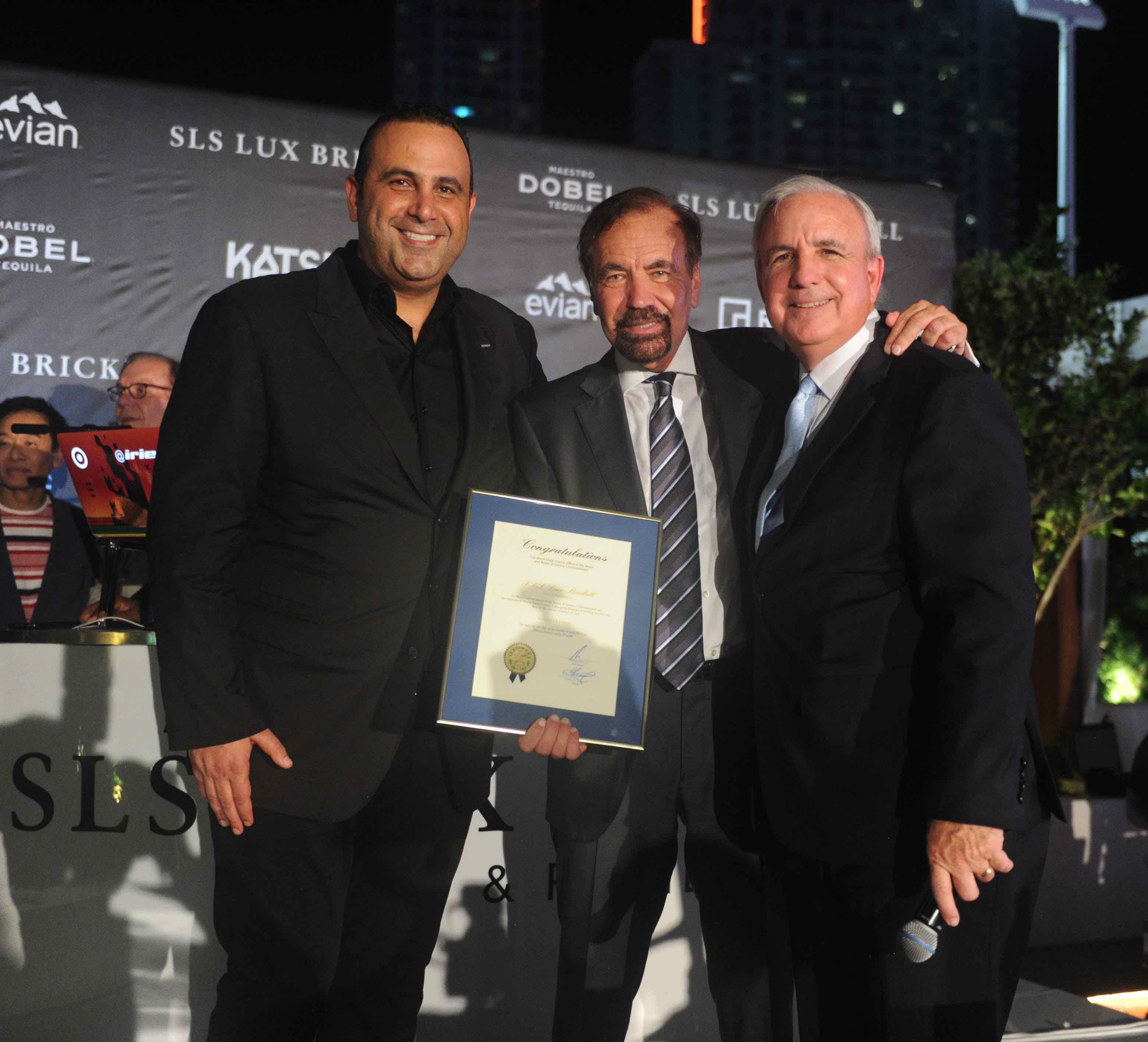 Sam Nazarian, Jorge Pérez, & Carlos Gimenez