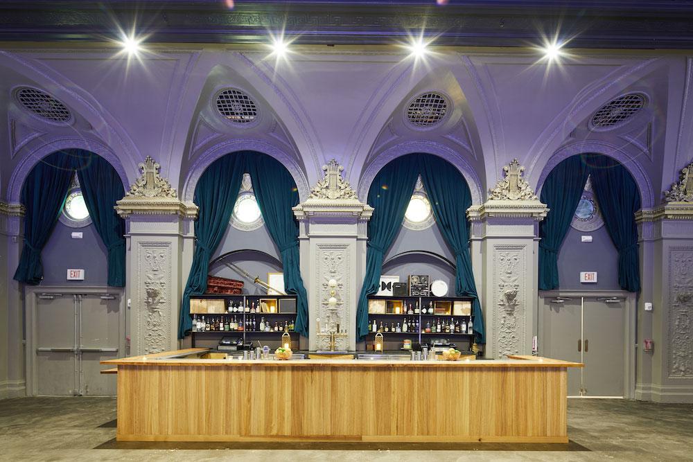 August Hall's upstairs bar
