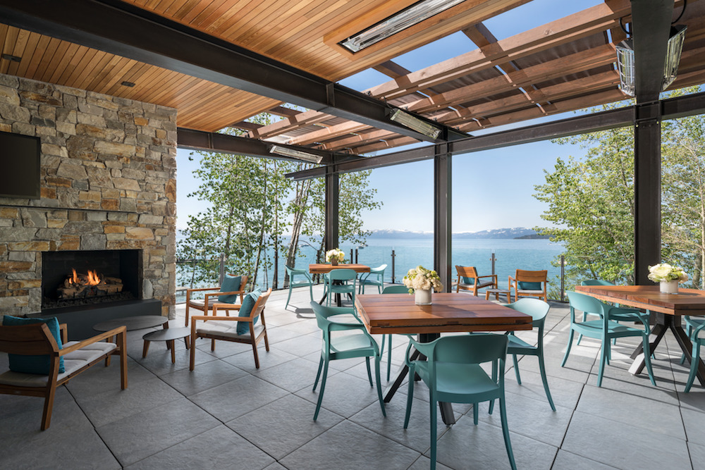The deck at the Ritz lake house