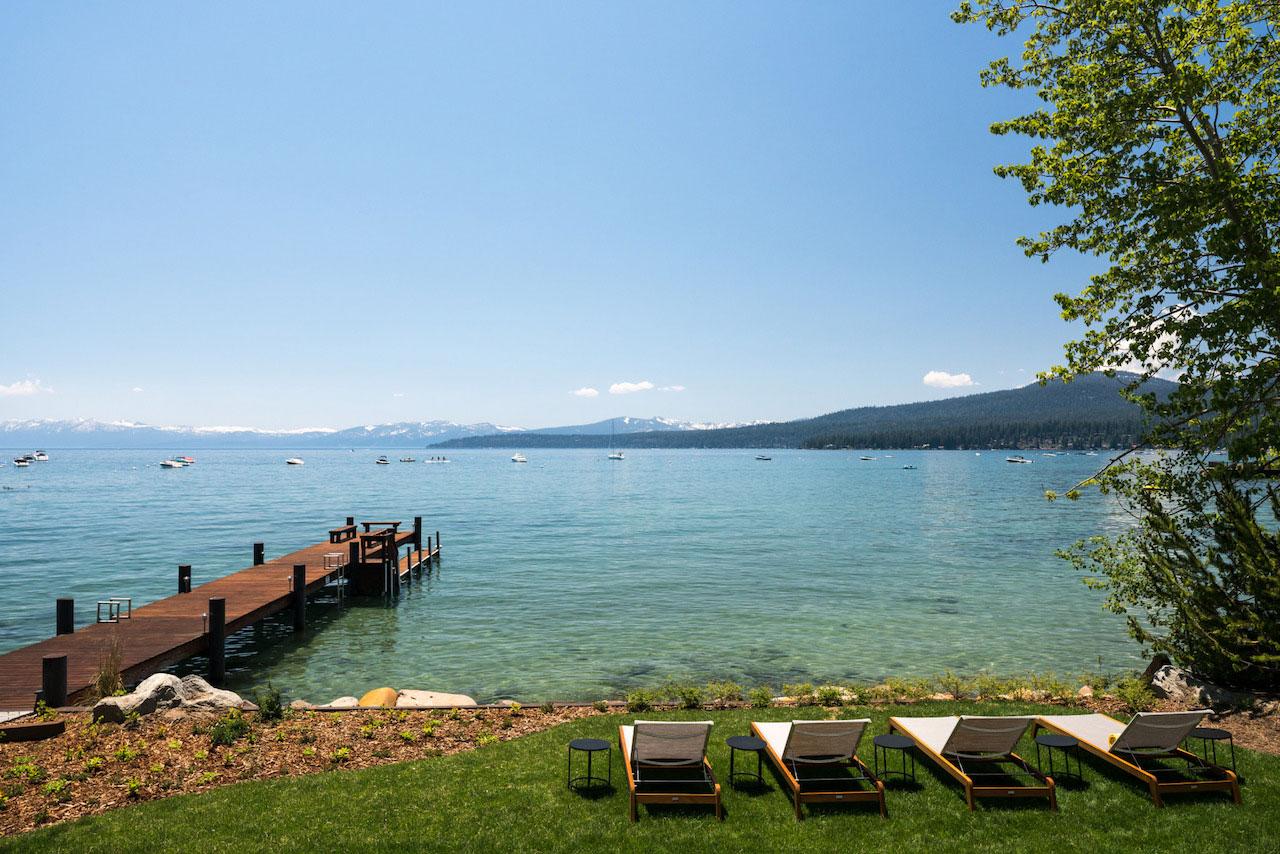 The view of Lake Tahoe from the Ritz-Carlton, Lake Tahoe's Lake Club