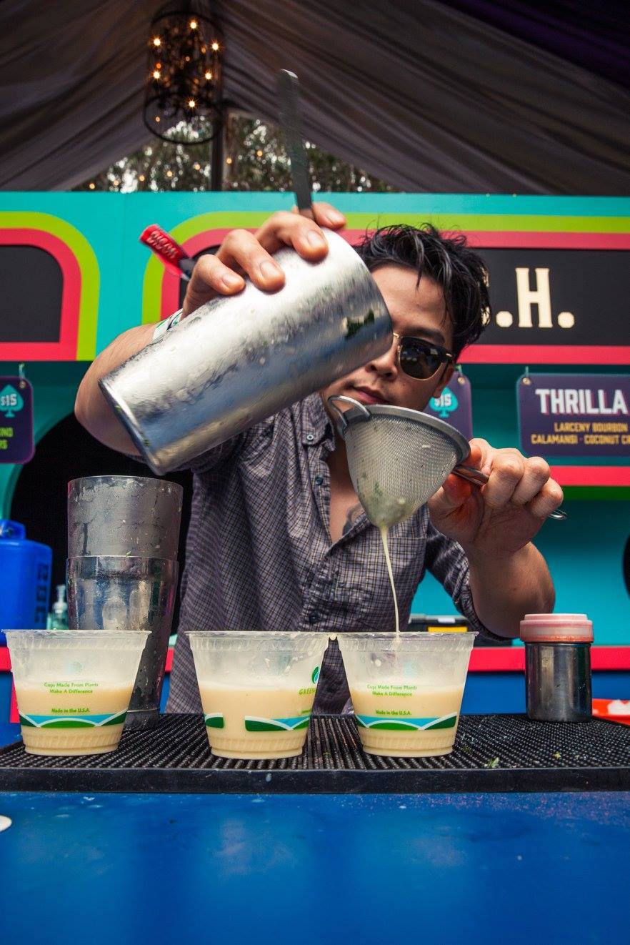 Cocktails being made at Outside Lands 2017