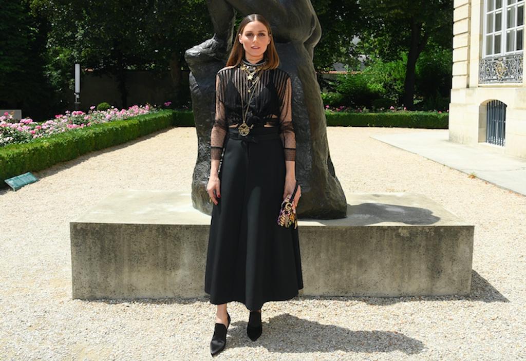 Olivia Palermo wearing the Saddle Bag